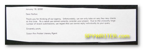 Literary rejection letters from publishers and literary agents literary rejection letter spiritdancerdesigns Choice Image